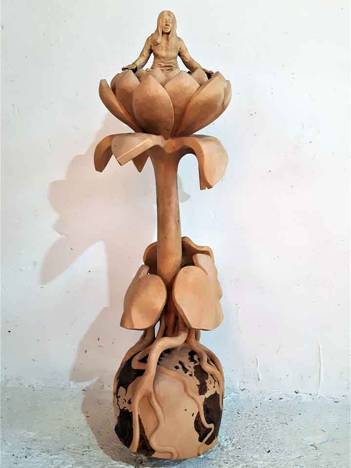 Kunstwerk aus Lindenholz