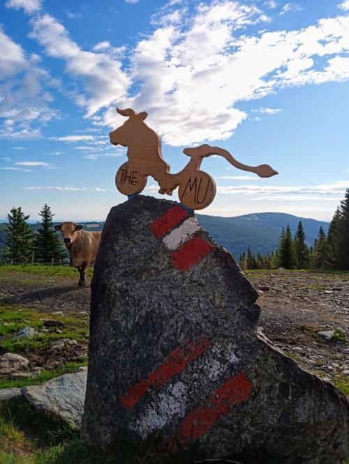 Wexl Trails ART, Wexl Trails, The WU, Hochwexltrail, TrailArt, Chimära, Chimärafiguren, Mischwesen, Kuh, Holzkunst, Landschaftskunst, Landart, Atelier Bergluft, Christof Seiser
